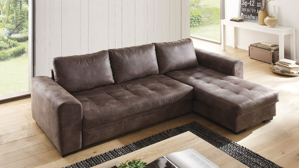 Ecksofa-Home-group-aus-Stoff-in-Braun