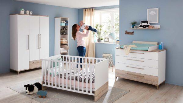 PAIDI Babyzimmer Katrin mit Bett, Wickelkommode und Kleiderschrank
